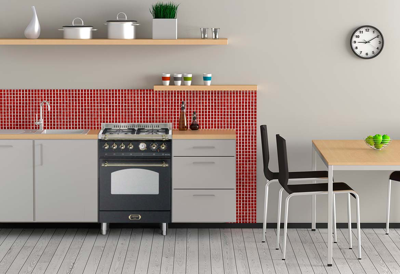 jetzt im programm nb 60 der standherd auch f r die kleine k che baumann einbauger te. Black Bedroom Furniture Sets. Home Design Ideas
